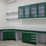 Island Bench and Hanging Cabinet/Wall Cabinet-Wood Furniture